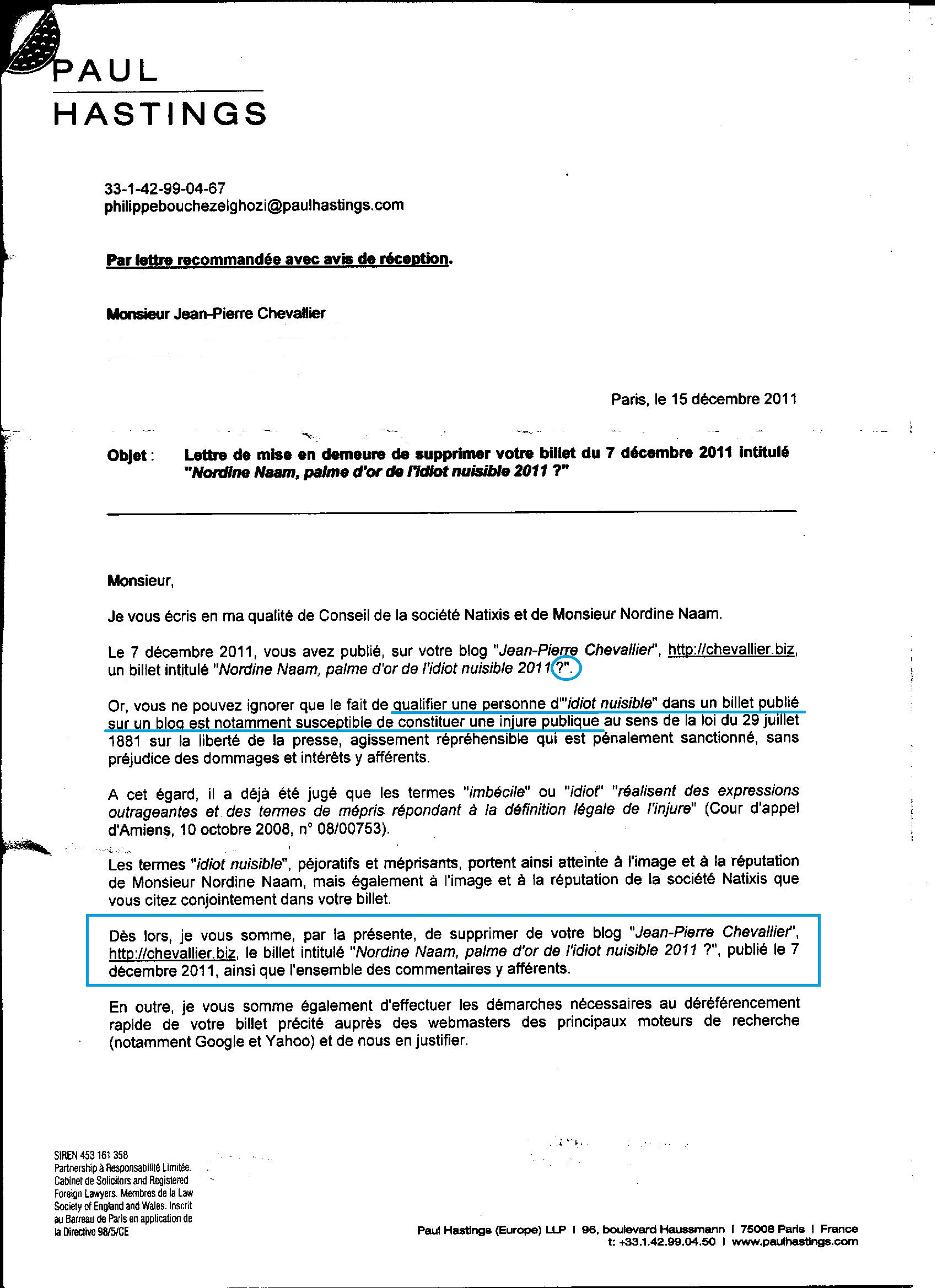 exemple de lettre a son avocat